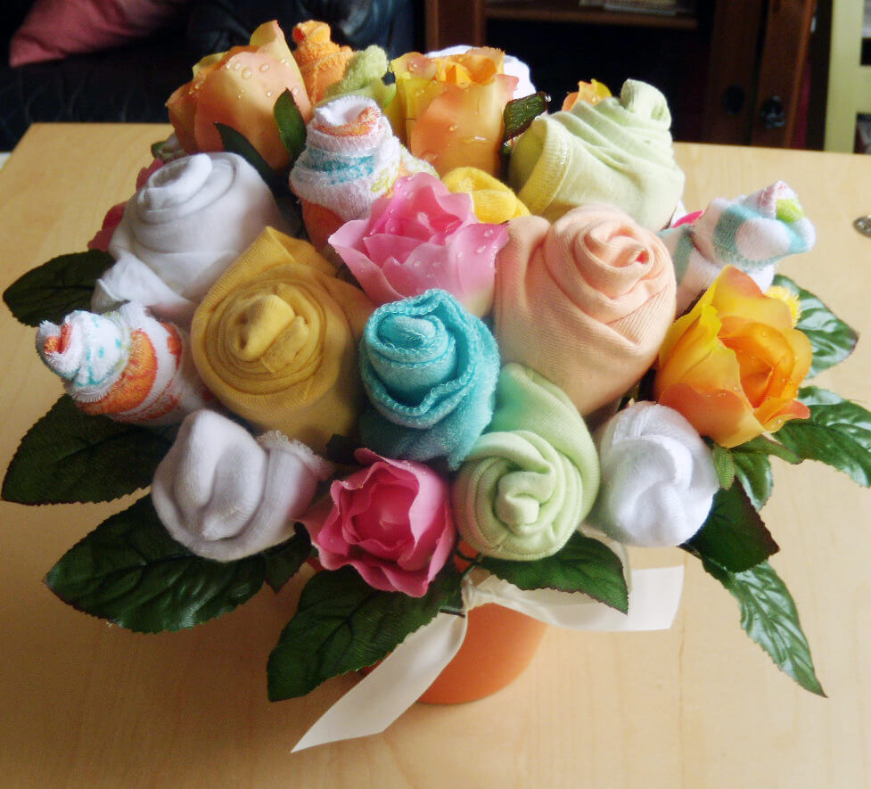 Baby Shower Bouquet Ideas Baby Cloth and Towel