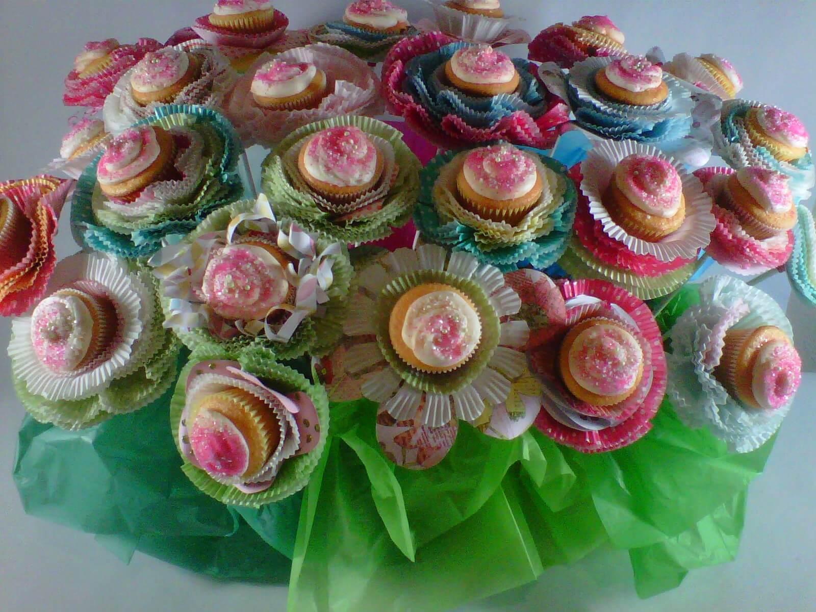 Baby Shower Bouquet Ideas CupCake Flower