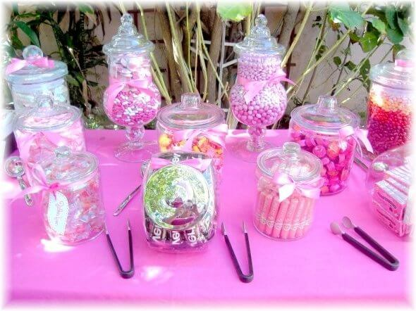 Baby Shower Centerpiece for Girls Pink Candy