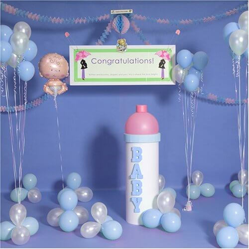 Baby Shower Centerpieces for Boys Blue Balloons Theme