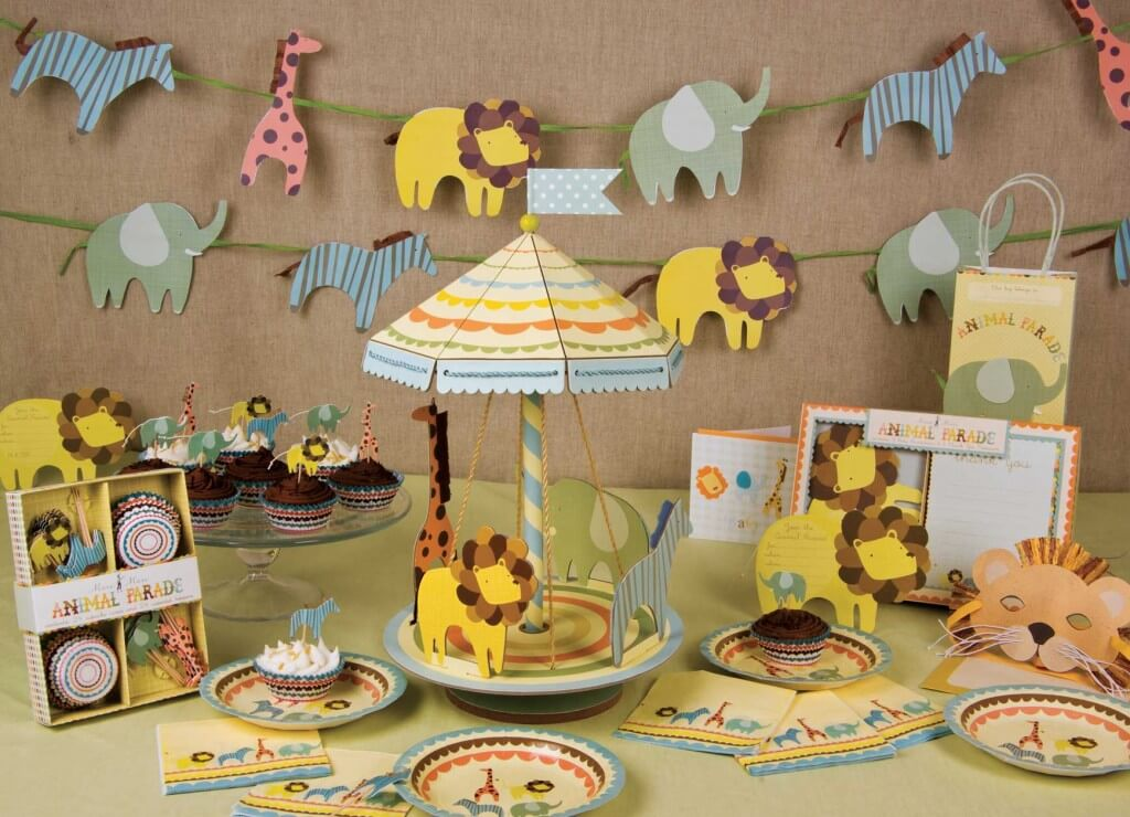 Baby Shower Centerpieces for Boys Safari Animal Theme
