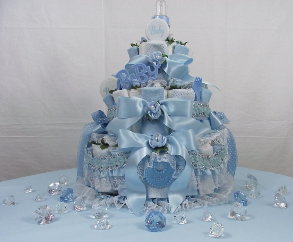 Baby Shower Diaper Cake Ideas for Boys Baby Bottle and Feeding