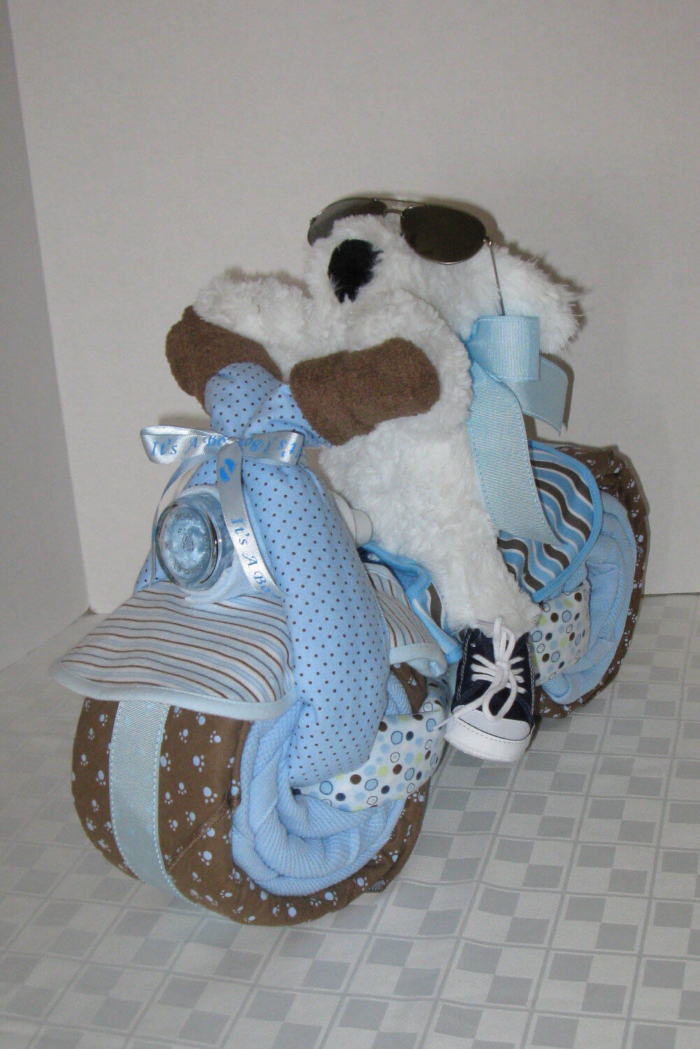 Baby Shower Diaper Cake Ideas for Boys Motorcycle Bike