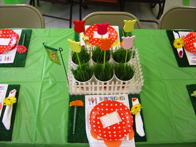 Baby Shower Table Decoration Ideas Garden