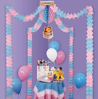 Baby Shower Decorations Ideas Balloons and wraps