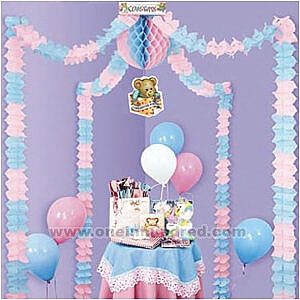 Cheap Baby Shower Decoration Ideas Streamers