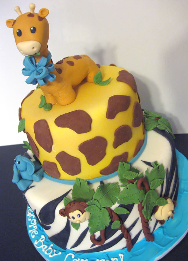 Baby Shower Cake for Boys Animal Safari