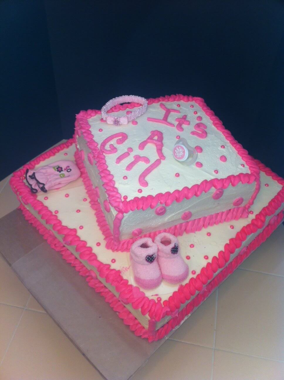 baby shower cake for girls: It's a girl!
