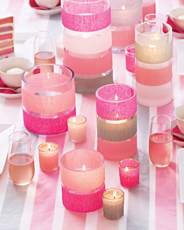baby shower centerpieces for girls Candles