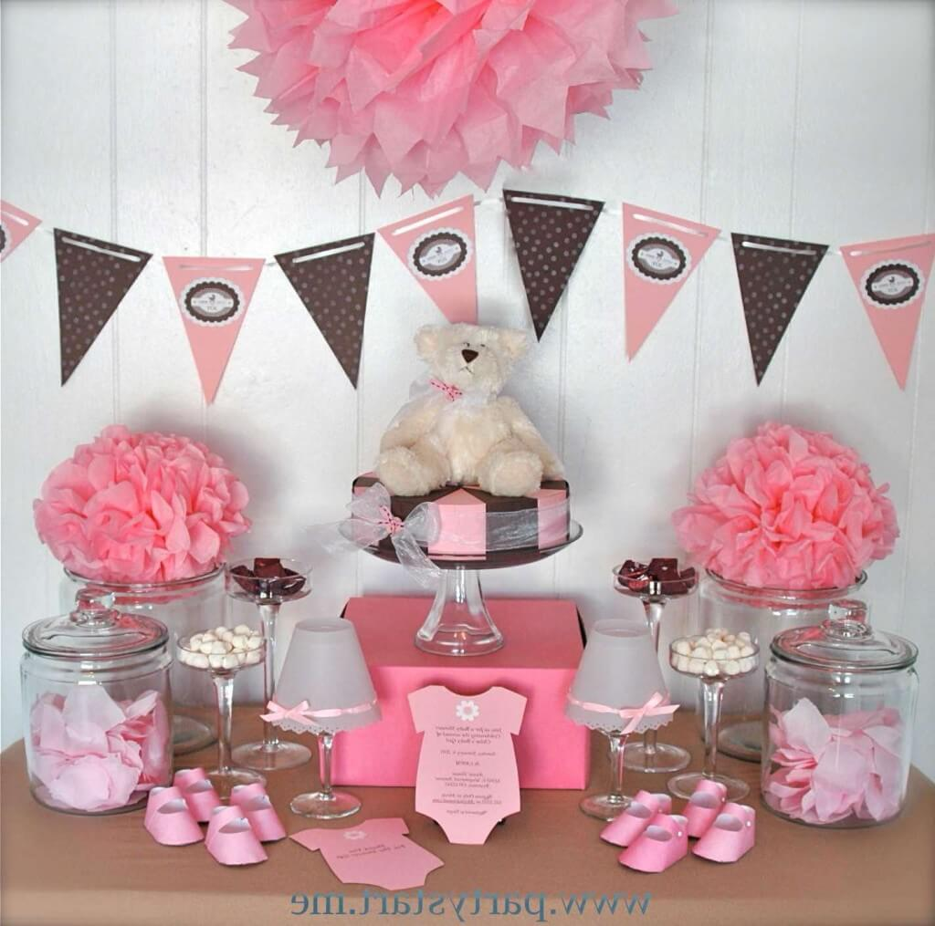 baby shower centerpieces for girls Pink Teddy Bear