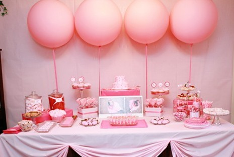 baby shower centerpieces for girls pink balloon