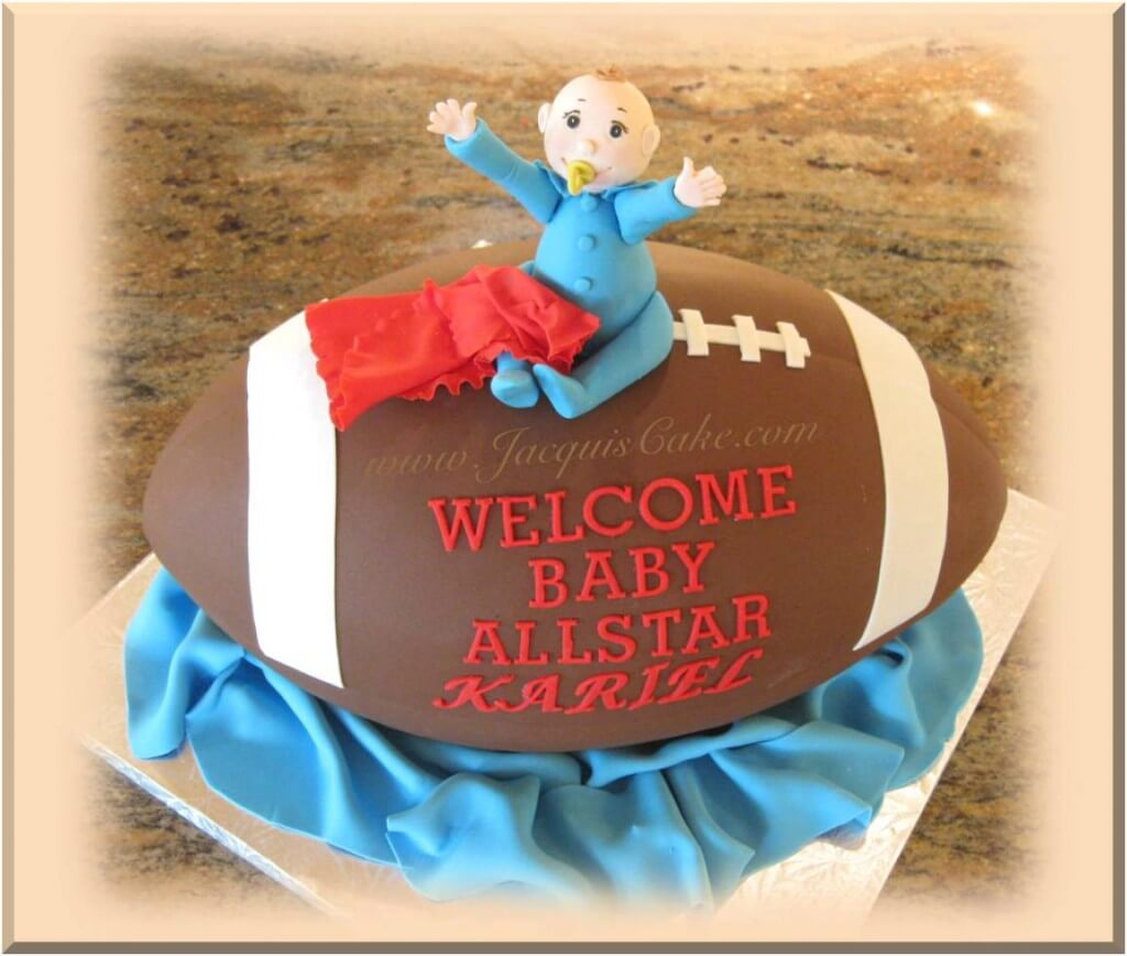 Baby Shower Cake for Boys Football