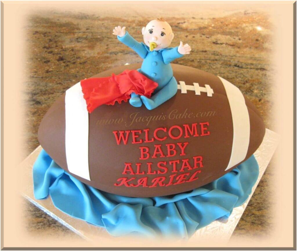 Baby Shower Cake for Boys Football