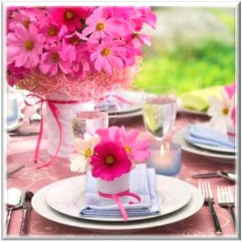 Baby Shower Decoration Ideas Pictures Flower Table Set