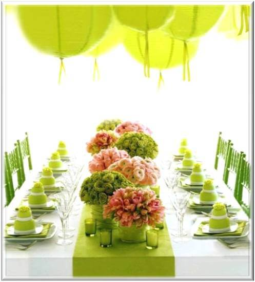 Baby Shower Decoration Ideas Pictures Limegreen Paper Lanterns