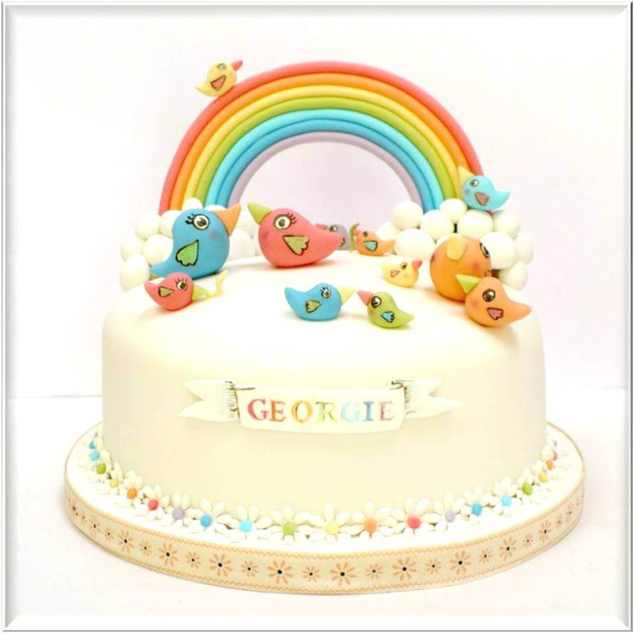 Pics of Baby Shower Cakes Rainbow