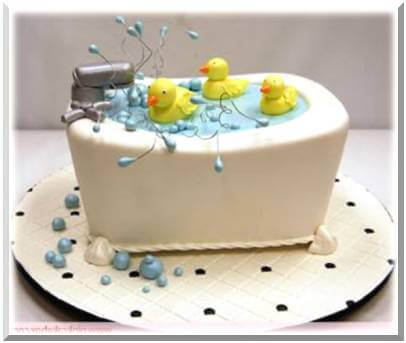 Unique Baby Shower Cakes Duck Bath